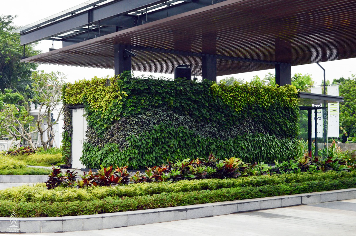 green wall indonesia office