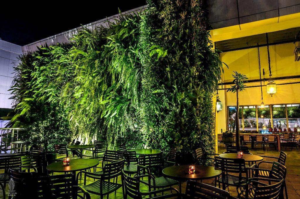 green wall restaurant indonesia