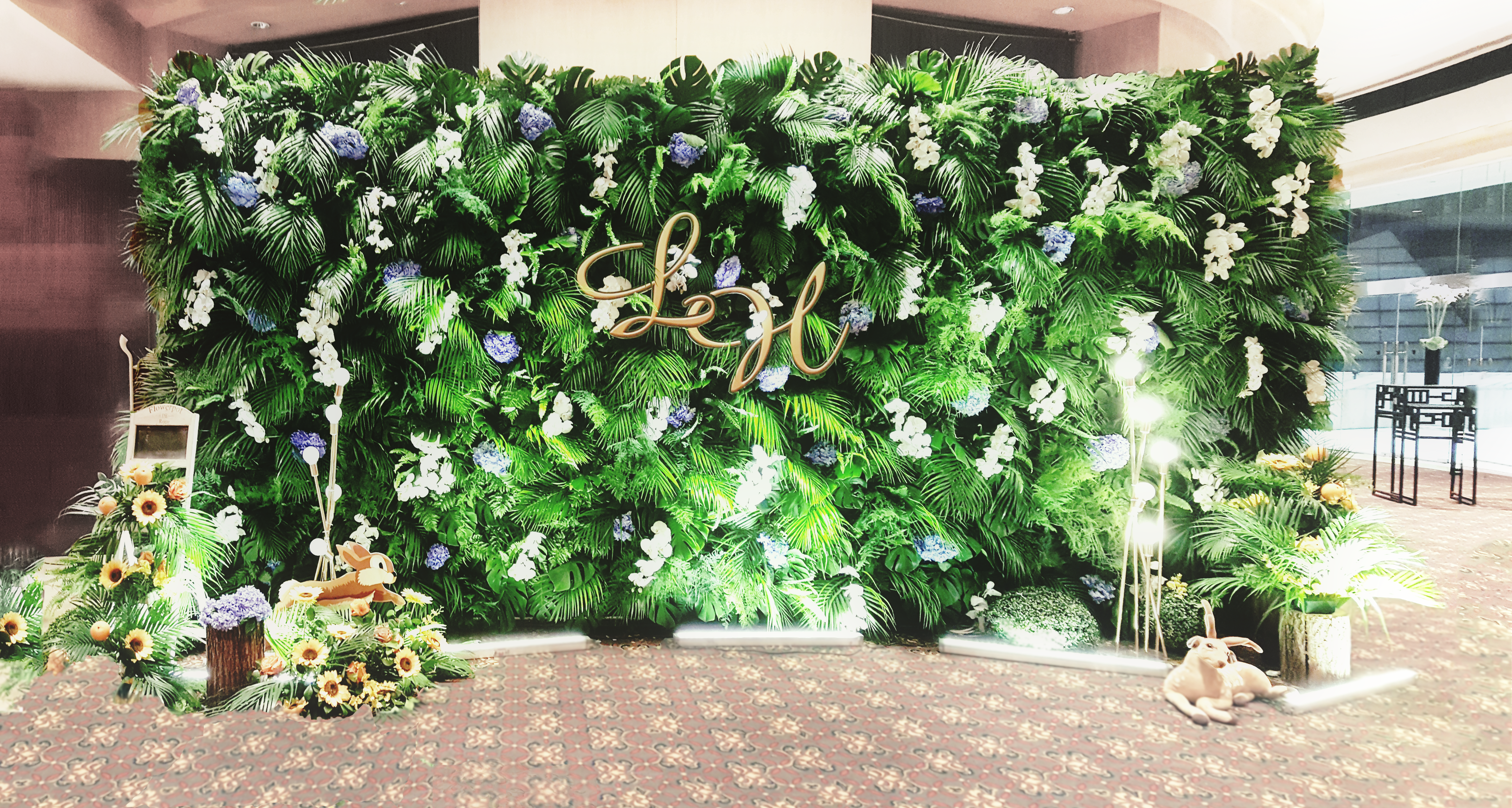 exhibition green wall