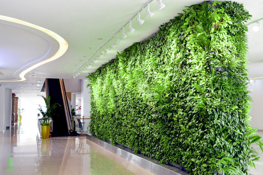 green wall indonesia mall